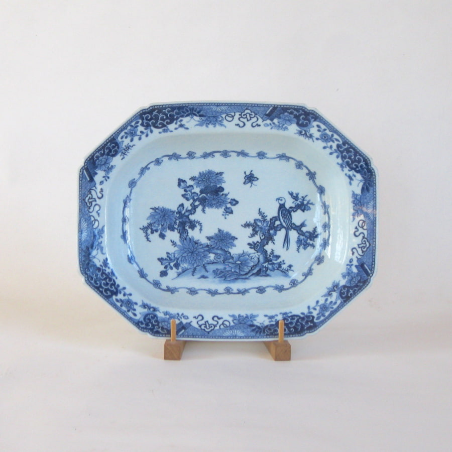 Blue and white Chinese export deep platter