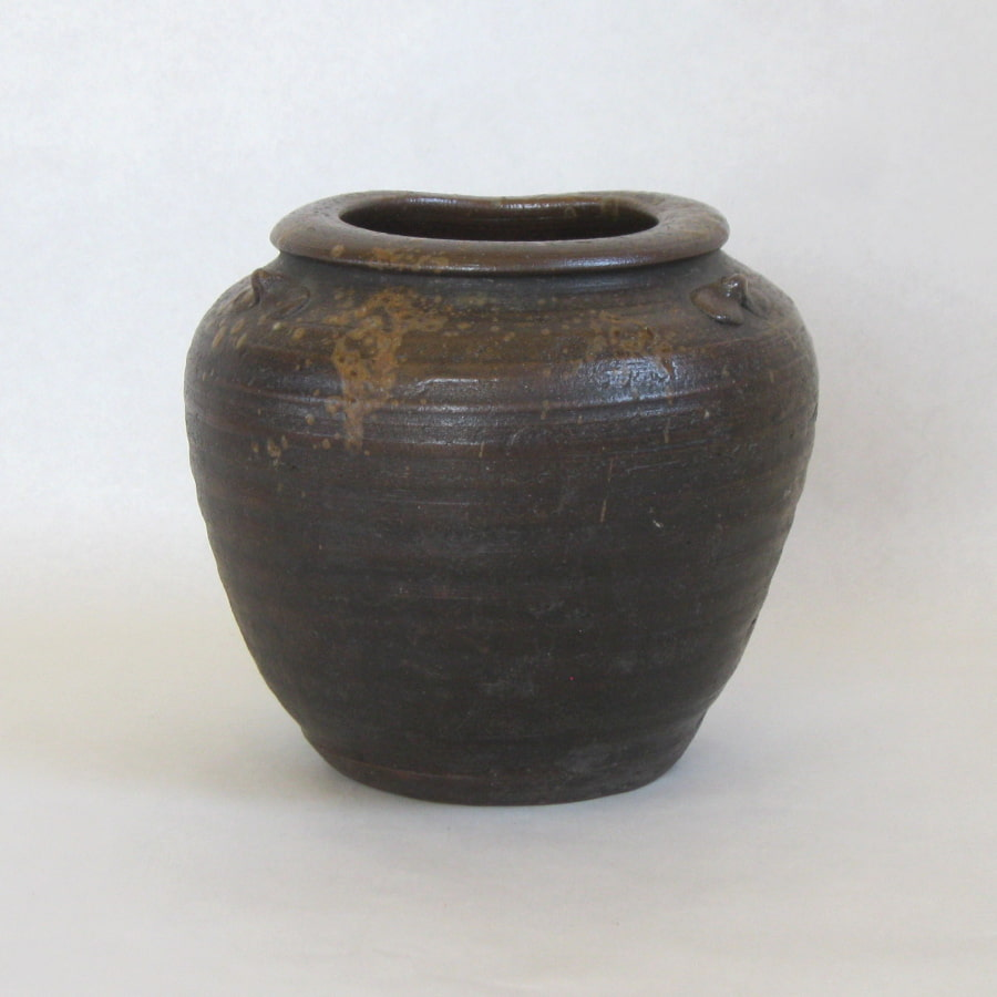 Brown Japanese pot