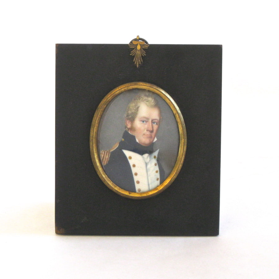 Miniature portrait of a male naval officer