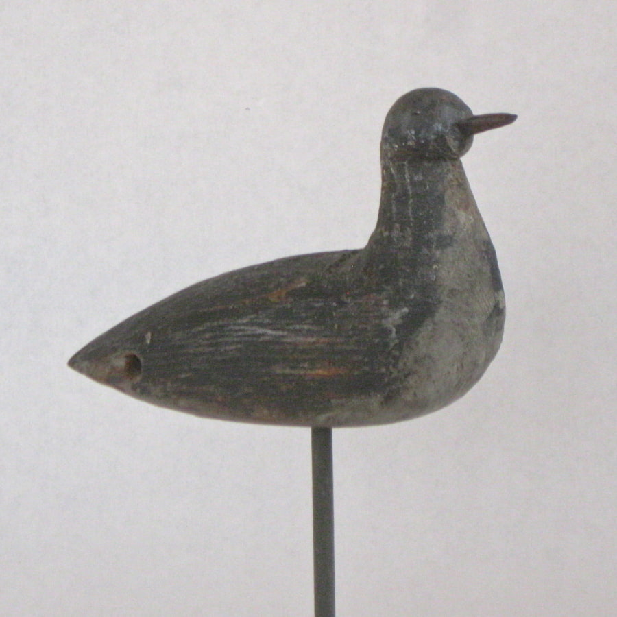 American shorebird wooden decoy